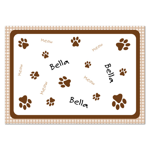 personalised-brown-gingham-cat-placemat