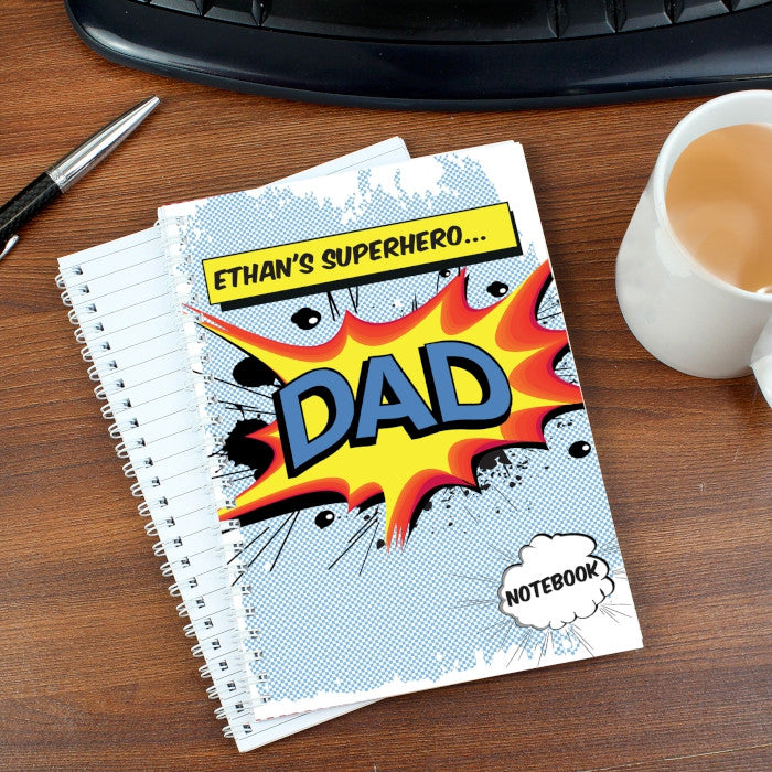 Buy Personalised Comic Book Themed A5 Notebook