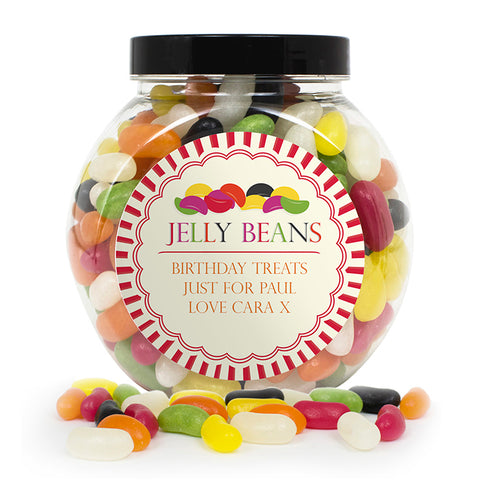 Buy Personalised Jelly Beans Sweet Jar