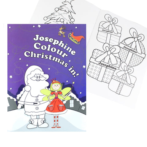Buy Personalised 'It's Christmas' Fairy Colouring Book