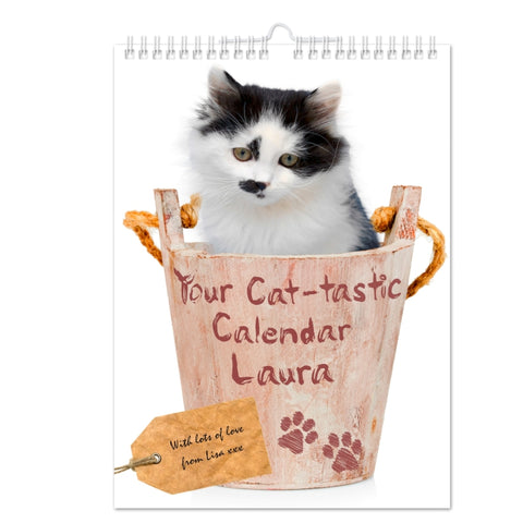 Personalised Your Cat-tastic A4 Wall Calendar | ShaneToddGifts.co.uk