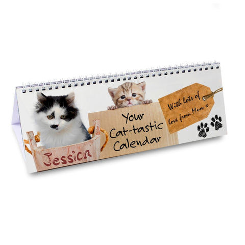 Buy Personalised Your Cat-tastic Desk Calendar