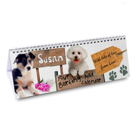 Buy Personalised Your Barking Mad Desk Calendar
