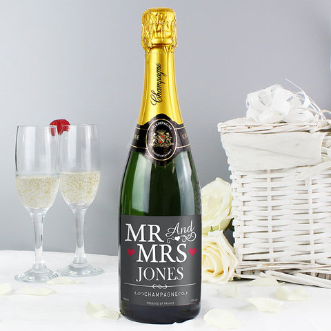 Buy Personalised Mr & Mrs Champagne.