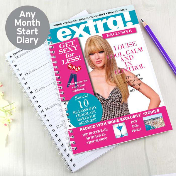 Personalised Extra A5 Diary