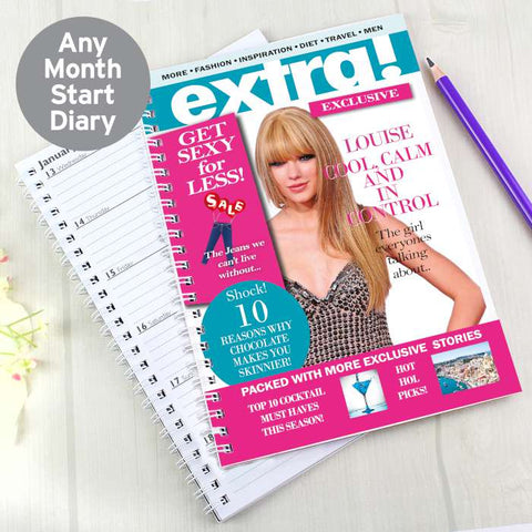 Personalised Extra A5 Diary | ShaneToddGifts.co.uk