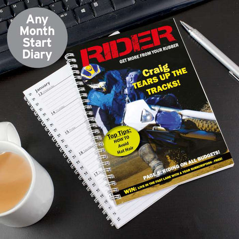 Personalised Rider A5 Diary | ShaneToddGifts.co.uk
