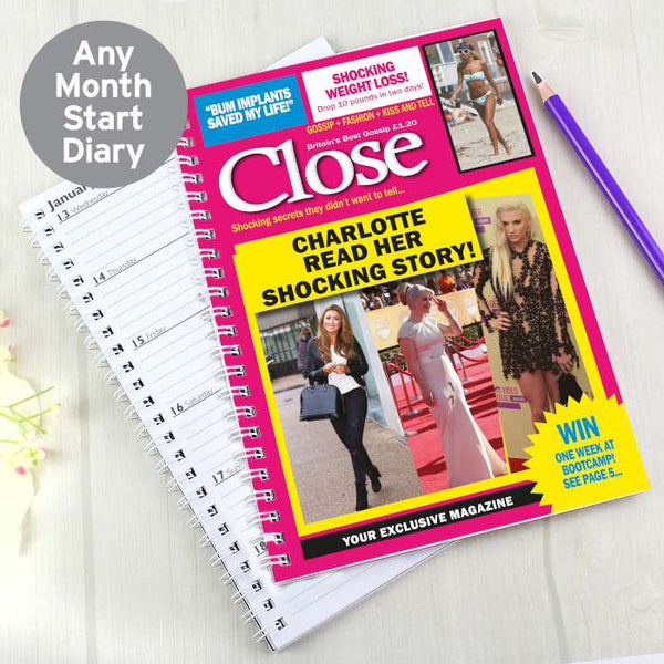 Personalised Close A5 Diary