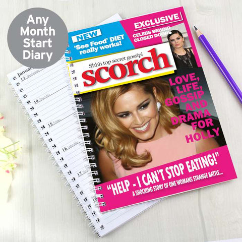 Personalised Scorch A5 Diary | ShaneToddGifts.co.uk