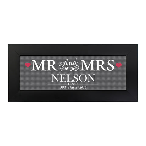 Buy Personalised Mr & Mrs Print in Small Frame