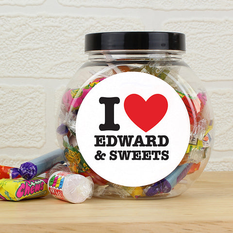 Buy Personalised I HEART Sweet Jar