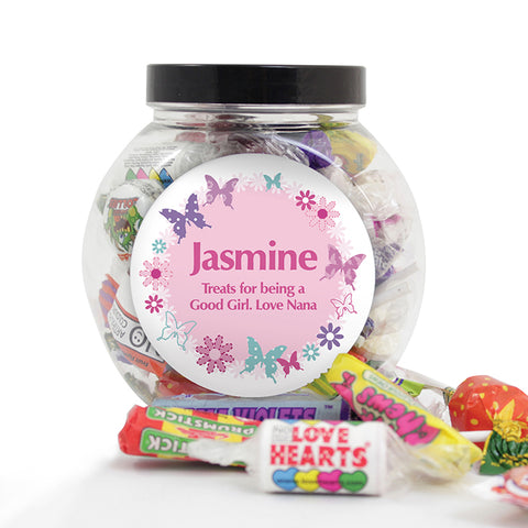 Buy Personalised Butterfly Sweets Jar