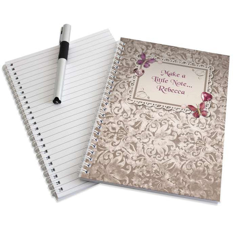 Buy Personalised Butterfly Gem A5 Notebook