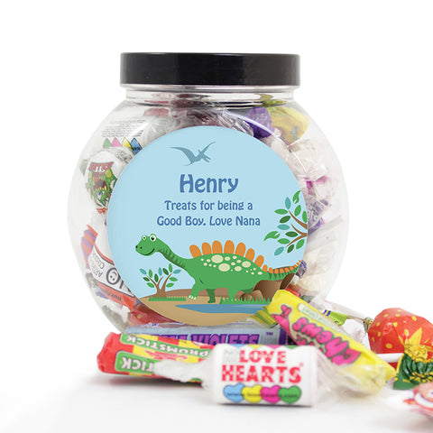 Buy Personalised Dinosaur Sweets Jar