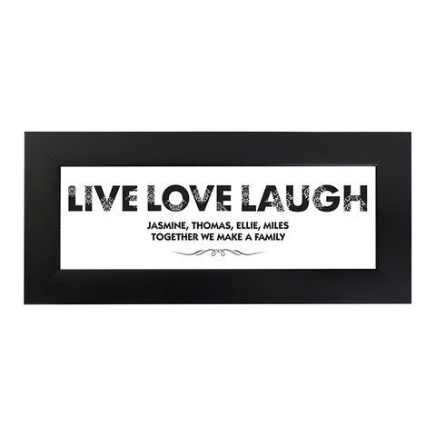 Buy Personalised Live Love Laugh Name Frame