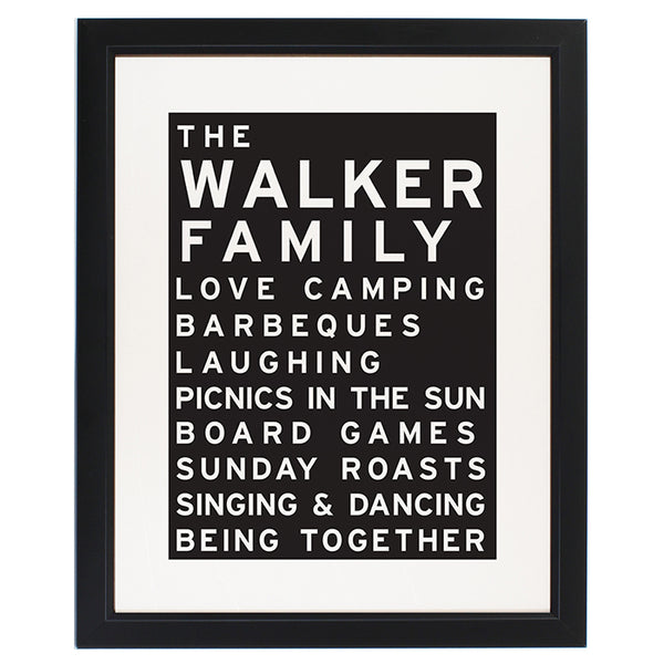 personalised-typography-framed-print