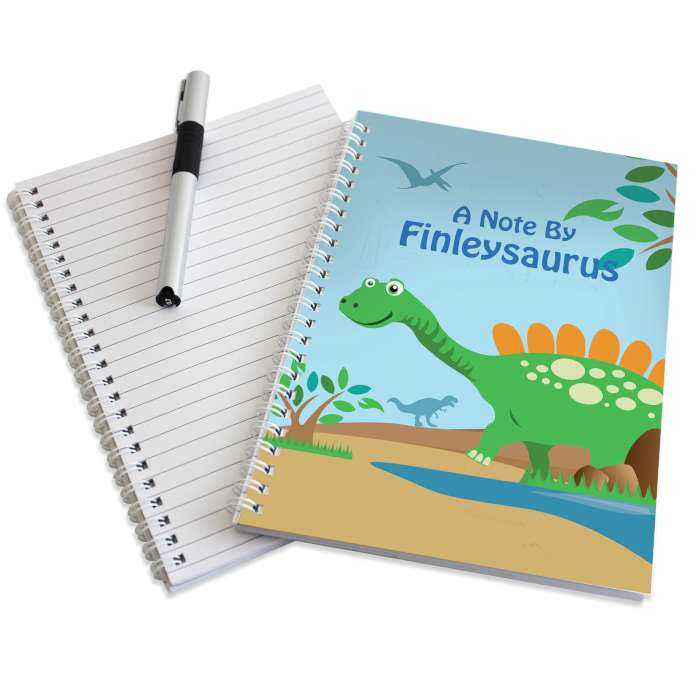 Personalised Dinosaur A5 Notebook