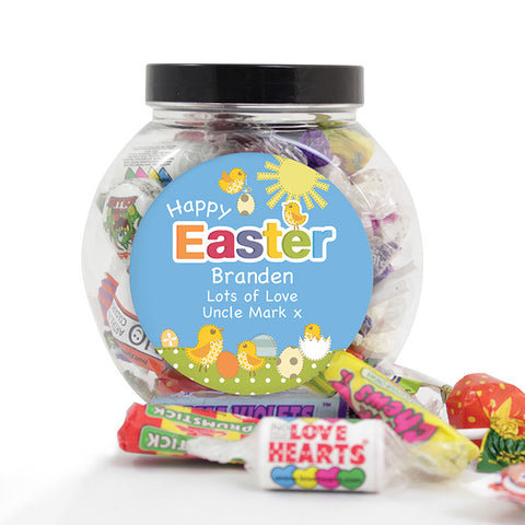 Buy Personalised Easter Chick Sweet Jar