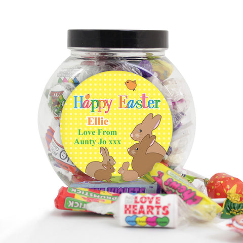 Buy Personalised Easter Bunny Sweet Jar