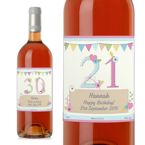 Personalised Birthday Craft Rose Wine | ShaneToddGifts.co.uk