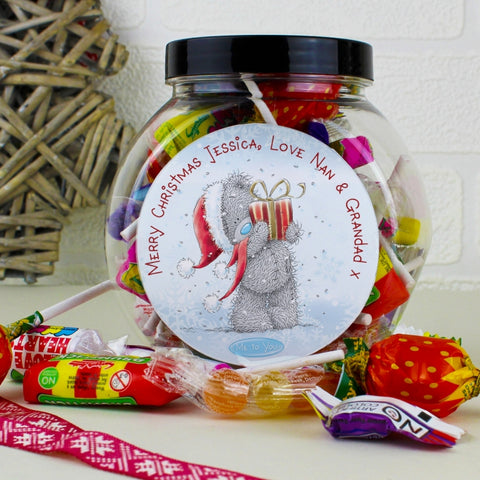 Personalised Me To You Christmas Sweet Jar | ShaneToddGifts.co.uk