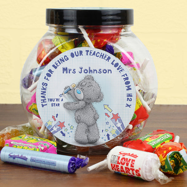 Personalised Me To You TeacHer Sweets Jar