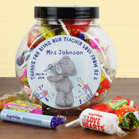 Personalised Me To You TeacHer Sweets Jar | ShaneToddGifts.co.uk