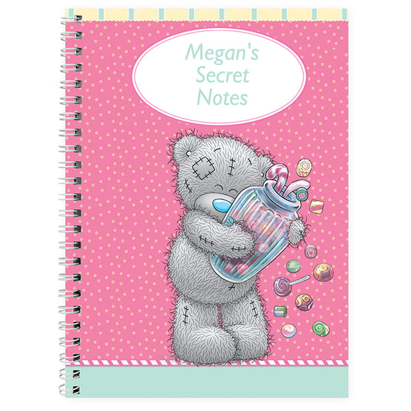 Personalised Me to You Candy Girl A5 Notebook
