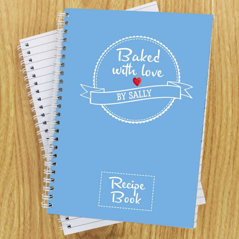 Personalised Baked With Love Recipes A5 Notebook | ShaneToddGifts.co.uk