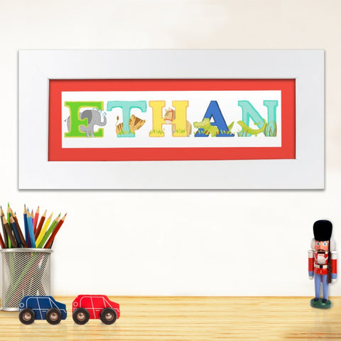 Buy Personalised Animal Alphabet Name Frame