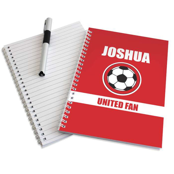 personalised-red-football-fan-a5-notebook