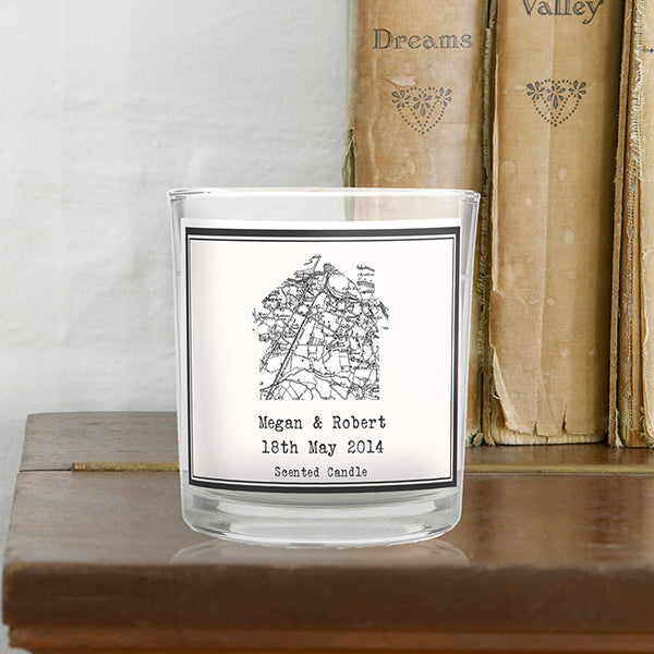 Buy 1805 - 1874 Old Series Map Home Scented Jar Candle