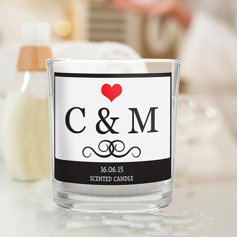 Monogram Scented Jar Candle