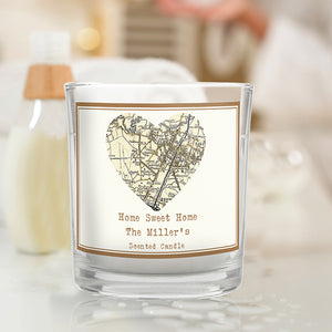 1896 - 1904 Revised New Map Heart Scented Jar Candle
