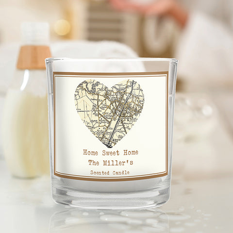 Personalised 1896 - 1904 Revised New Map Heart Scented Jar Candle | ShaneToddGifts.co.uk