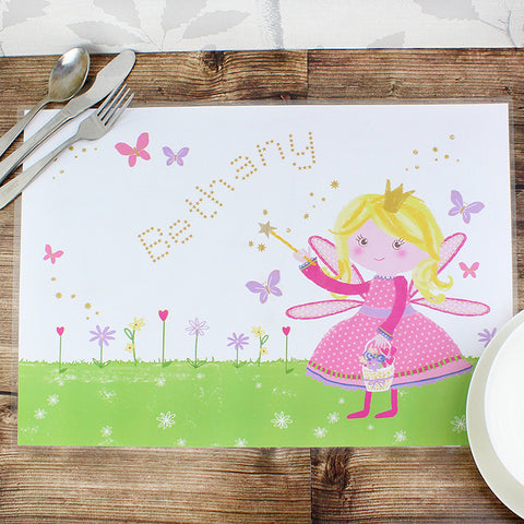 Buy Personalised Garden Fairy Placemat