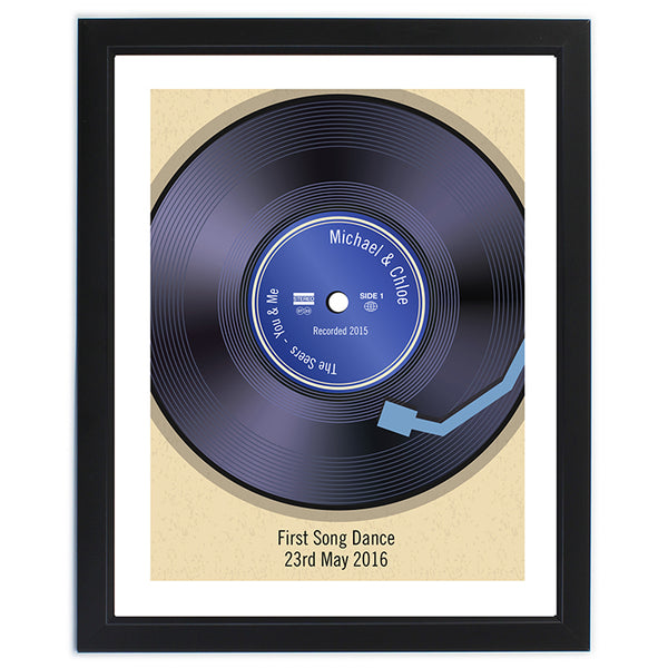 personalised-retro-vinyl-black-poster-frame