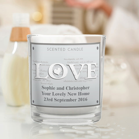 Buy LOVE Scented Jar Candle
