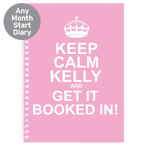 personalised-keep-calm-pink-a5-diary