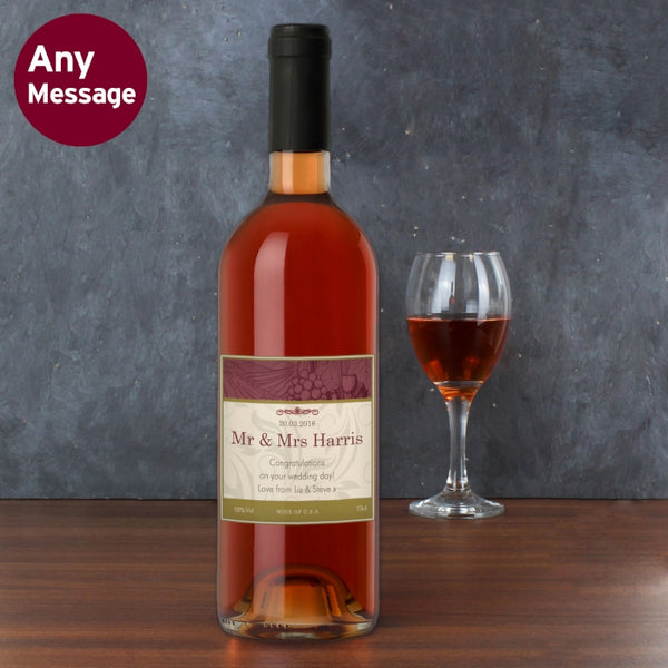 personalised-traditional-rose-wine
