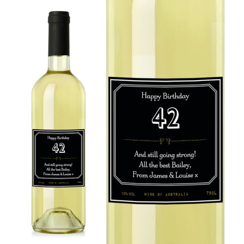 Buy Personalised Ornate White Wine