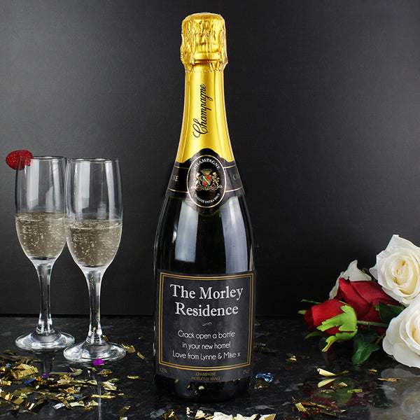 Personalised Chalkboard Champagne