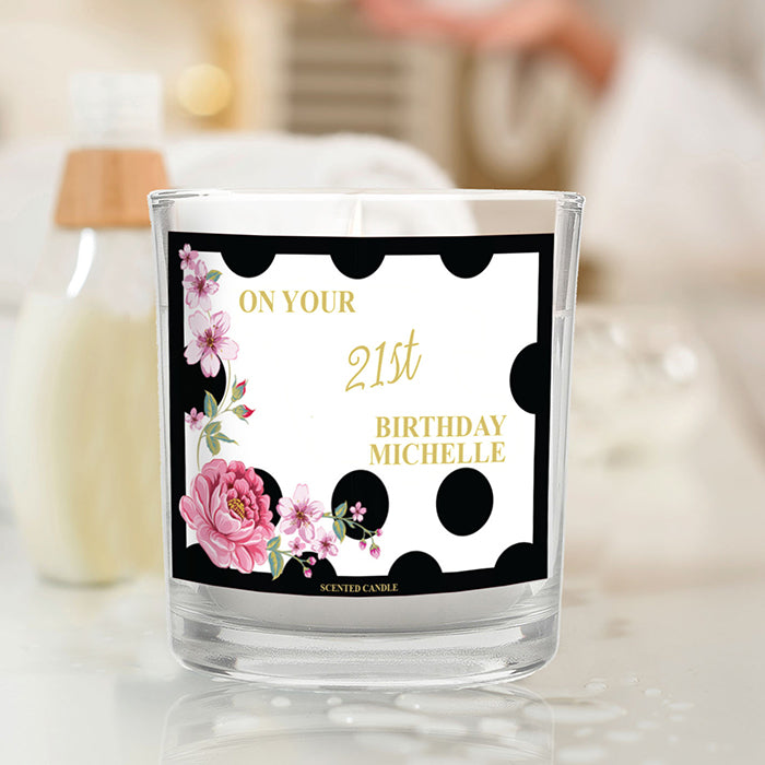 Floral Dot Scented Jar Candle