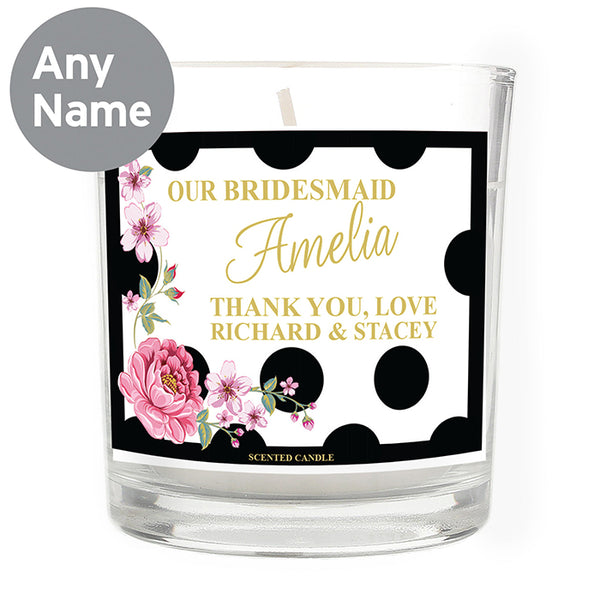 personalised-floral-dot-scented-jar-candle