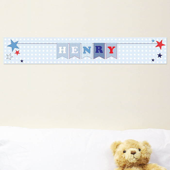 Personalised Star Bunting Banner, Party Supplies by Low Cost Gifts