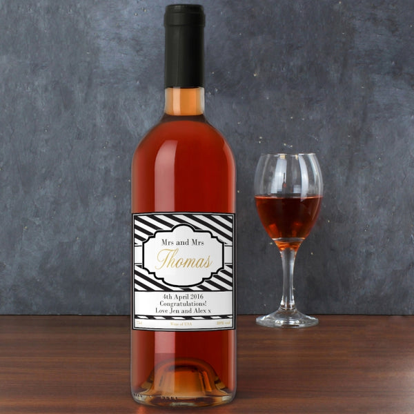 personalised-art-deco-striped-rose-wine