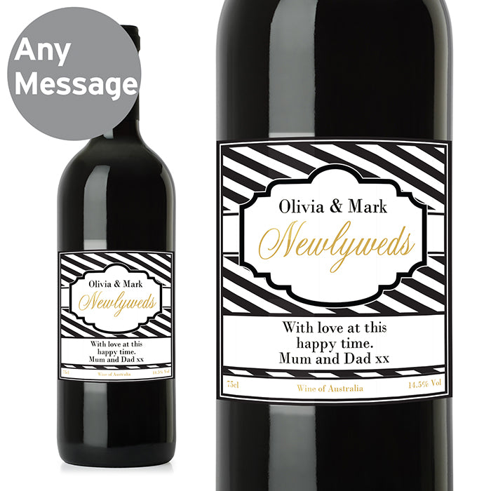 Personalised Art Deco Striped Red Wine, Wine - Image 8