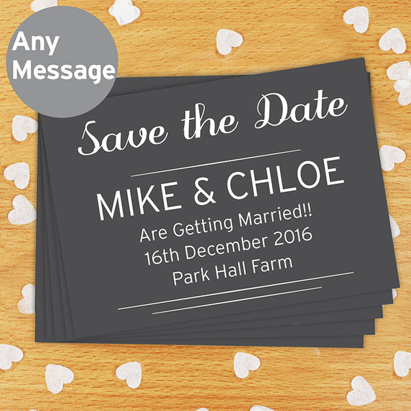 Personalised Classic Wedding Postcards / Save The Date Pack of 24