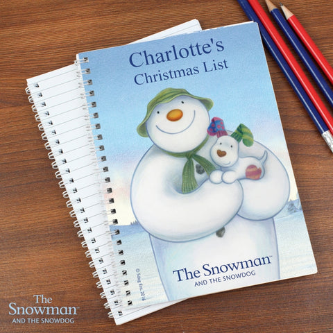 Personalised The Snowman and the Snowdog A5 Notebook