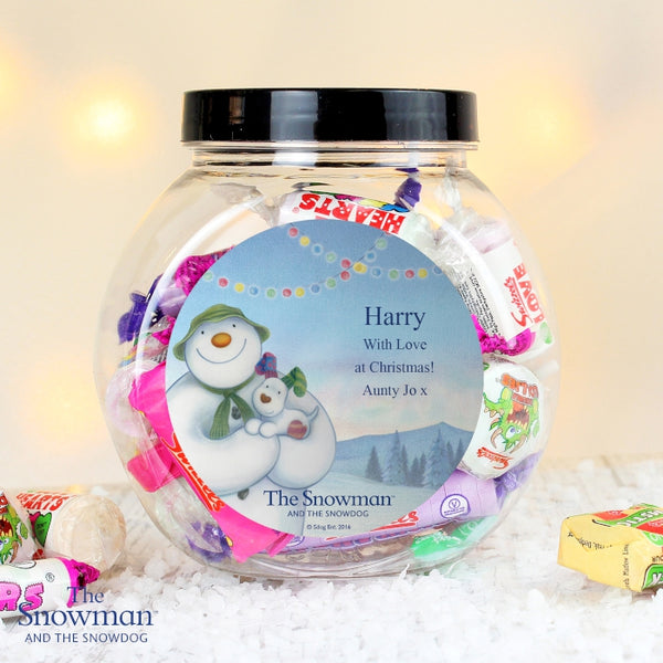 personalised-the-snowman-and-the-snowdog-sweet-jar